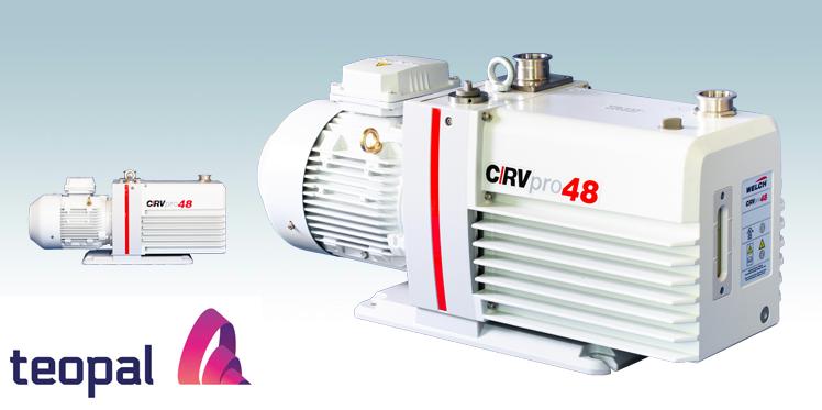 Welch-Ilmvac CRVpro 48-vakuumipumppu Teo-Palilta